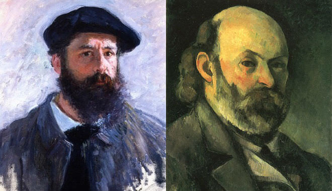 Claude Monet and Paul Cezanne