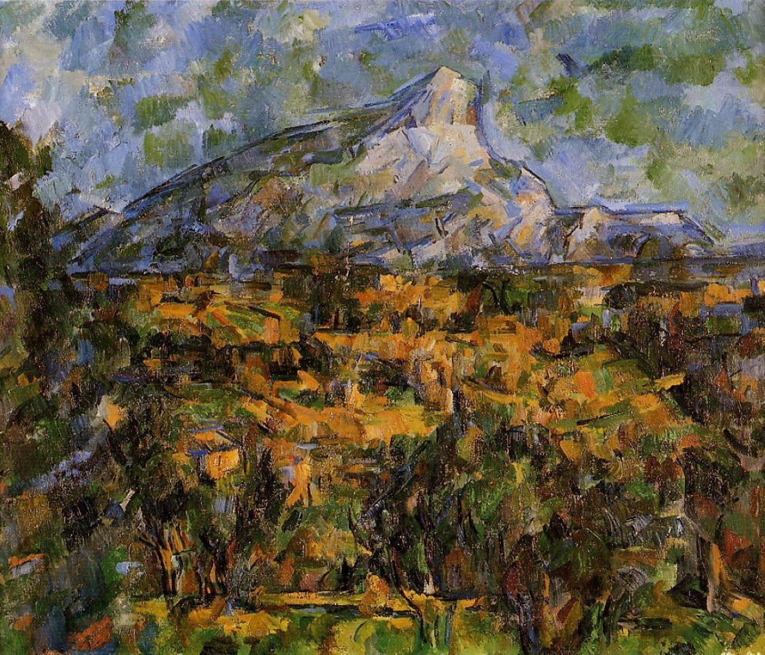 Mont Sainte-Victoire, 1902-04 by Paul Cezanne