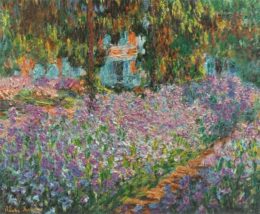 The Artist's Garden by Claude Monet