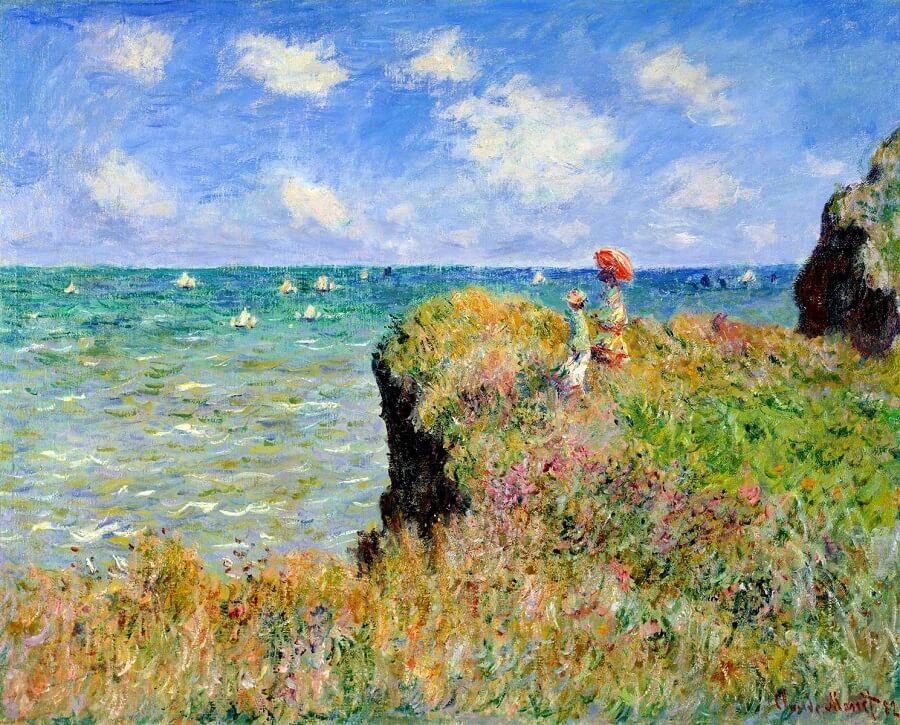 Cliff Walk At Pourville 1882 By Claude Monet
