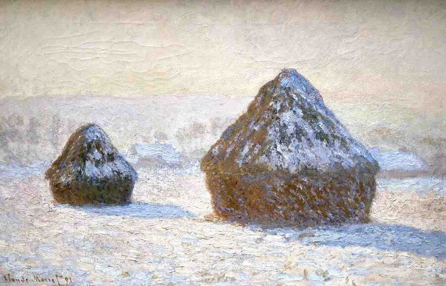 An analysis of grainstack sunset by claude monet