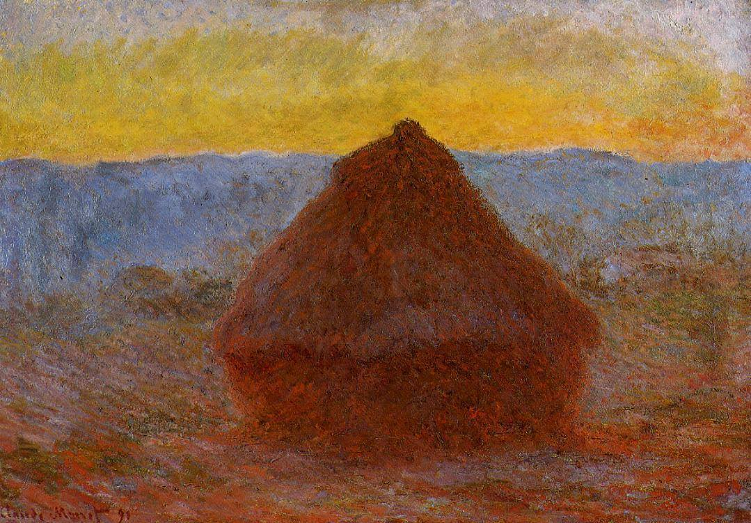 Haystack - by Claude Monet