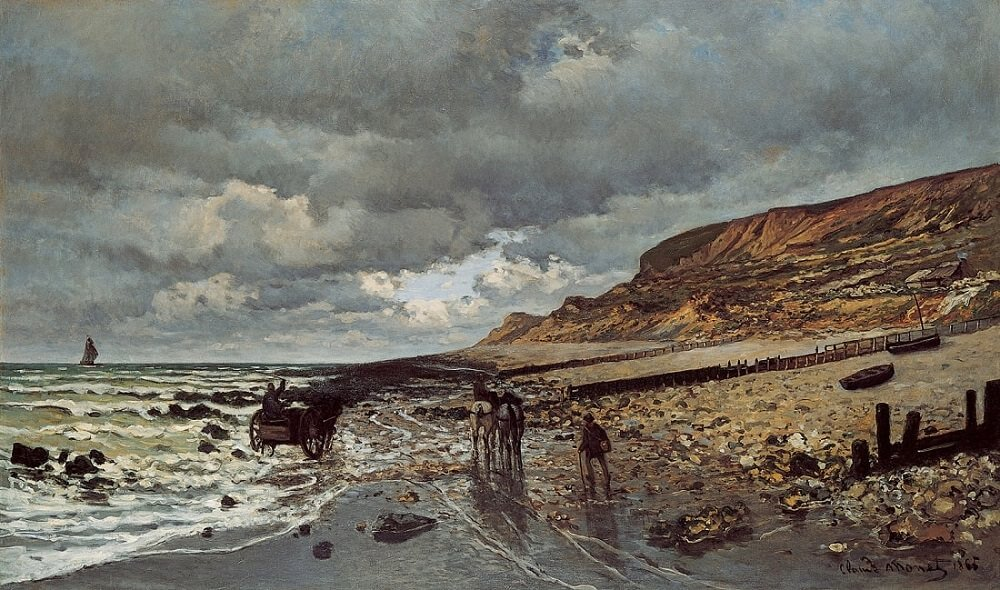 La Pointe de la Hève at Low Tide, 1865, 1916 by Claude Monet