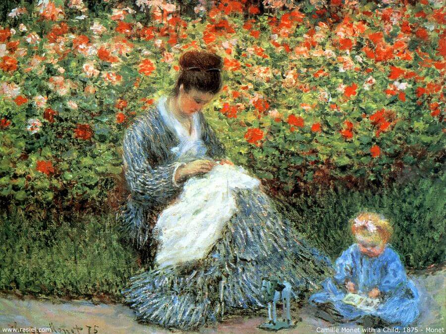 Madame Monet and Child, 1875 by Claude Monet