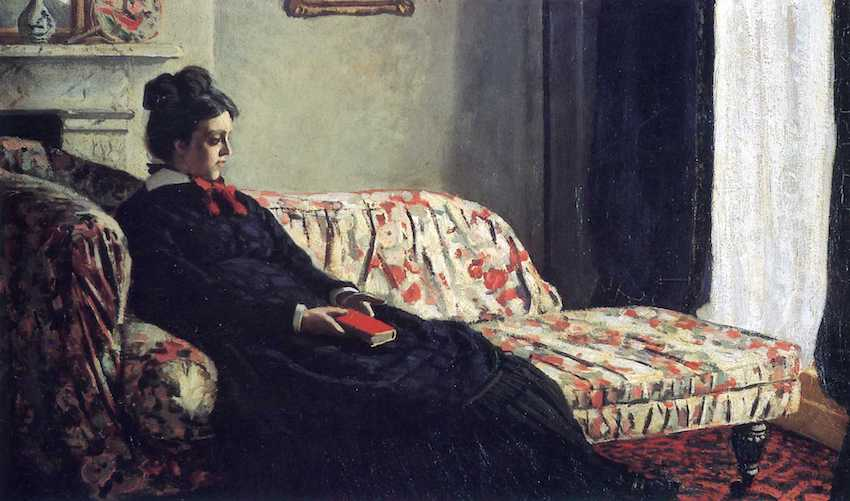 Meditation, 1871 by Claude Monet