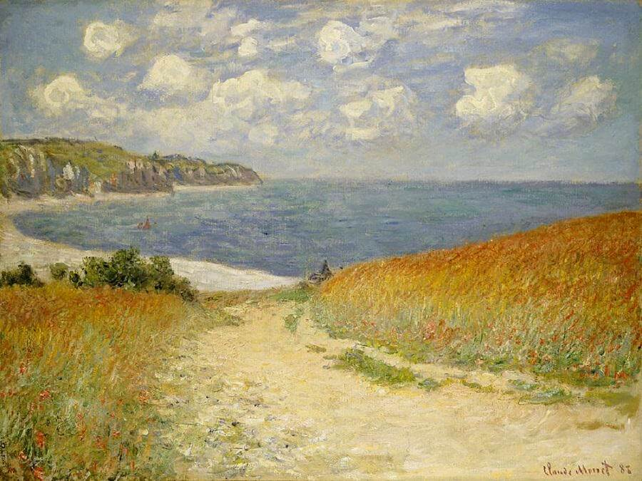 Path Through the Corn at Pourville, 1882 1916 by Claude Monet