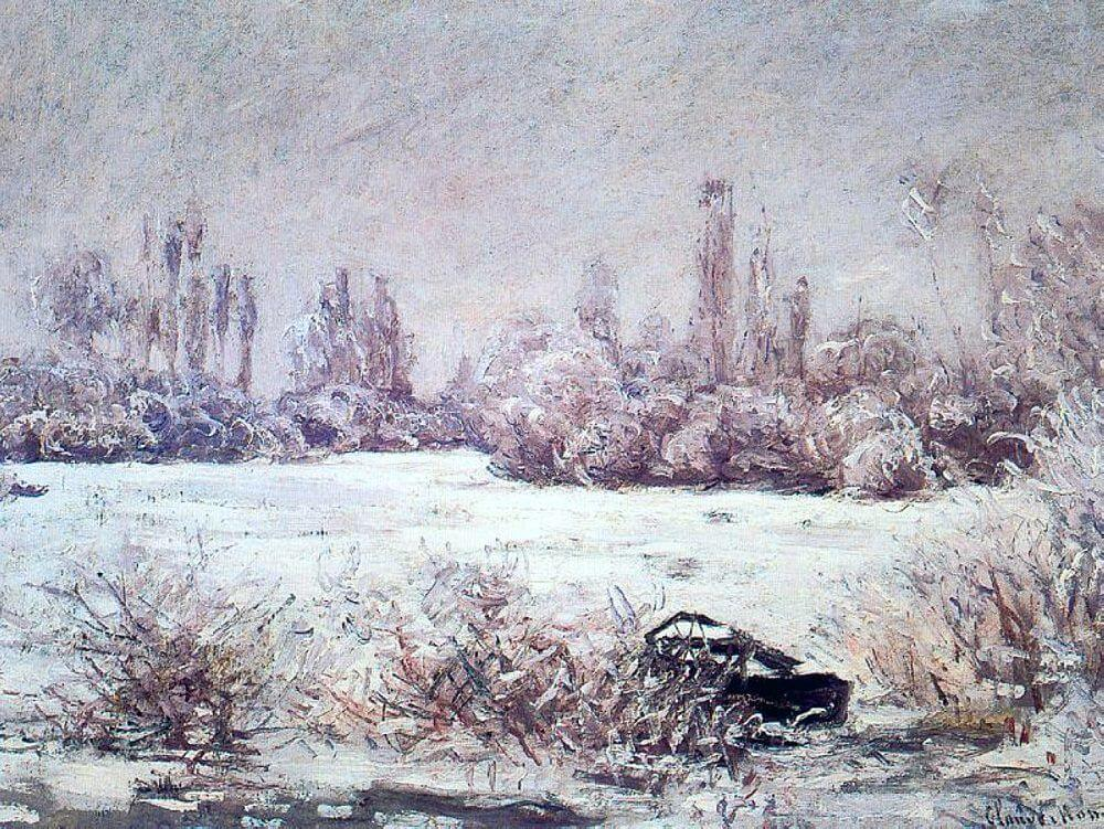 The Frost, 1879 by Claude Monet