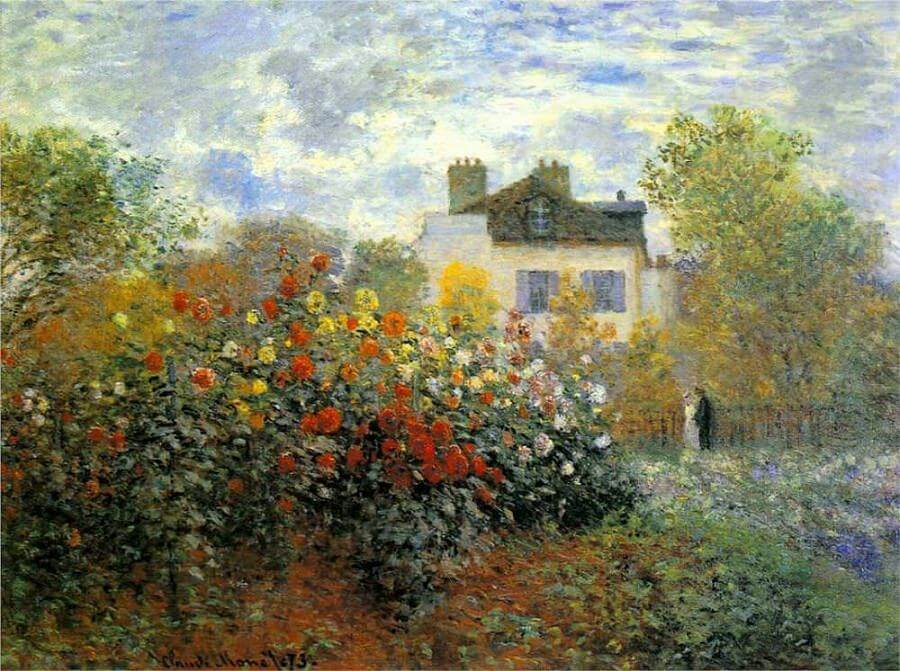 The garden of monet at argenteuil 1873 by claude monet for Monet home