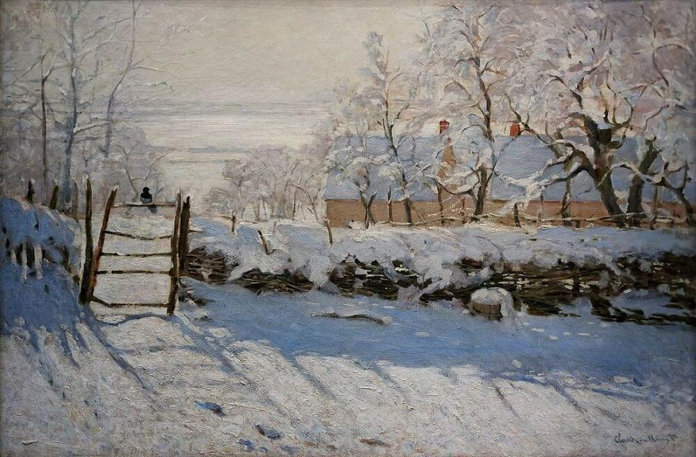 The Magpie, 1868 by Claude Monet