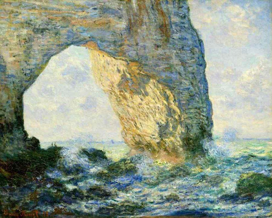The Manneporte (Etretat) , 1883 by Claude Monet