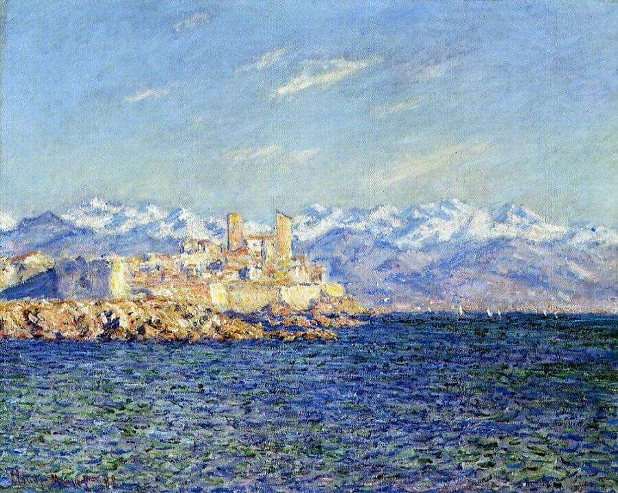 The Old Fort at Antibes, 1888 - by Claude Monet