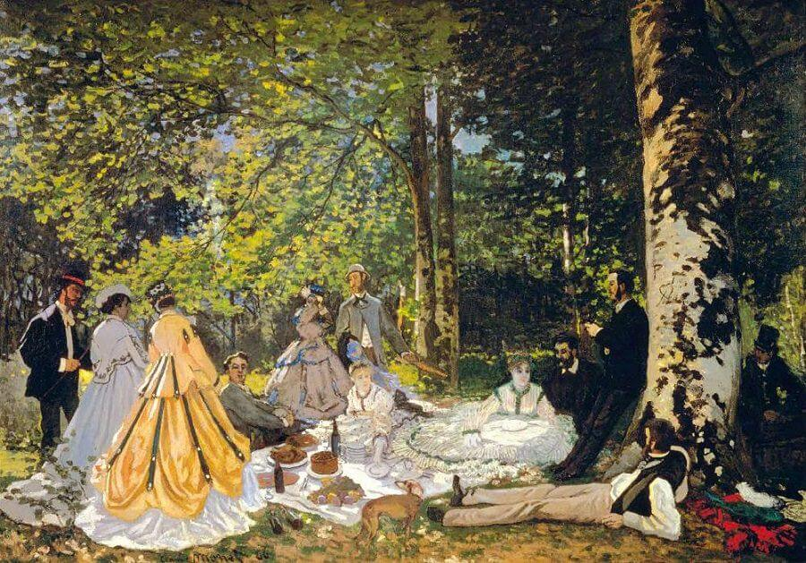 The Picnic, 1865-66 - by Claude Monet