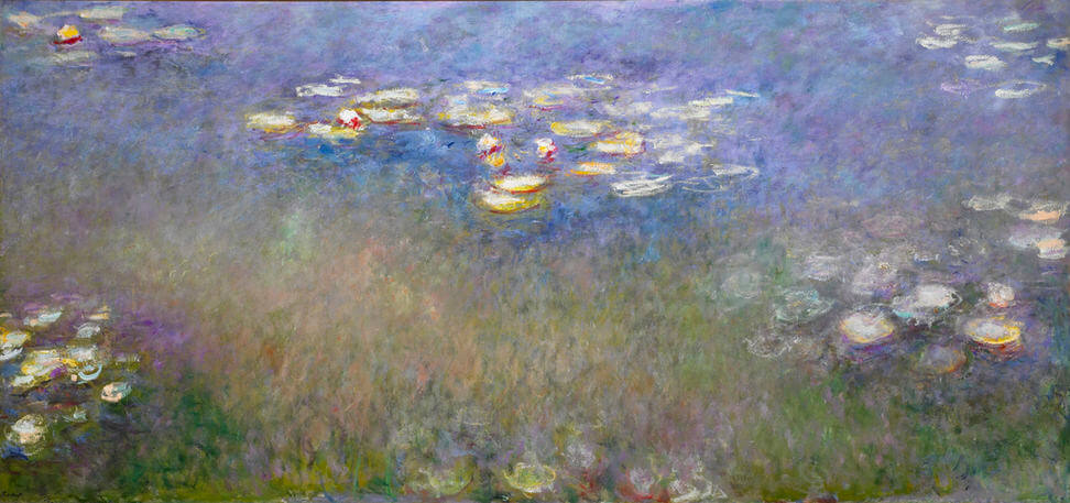Water Lilies Agapanthus, 1914-1917 by Claude Monet