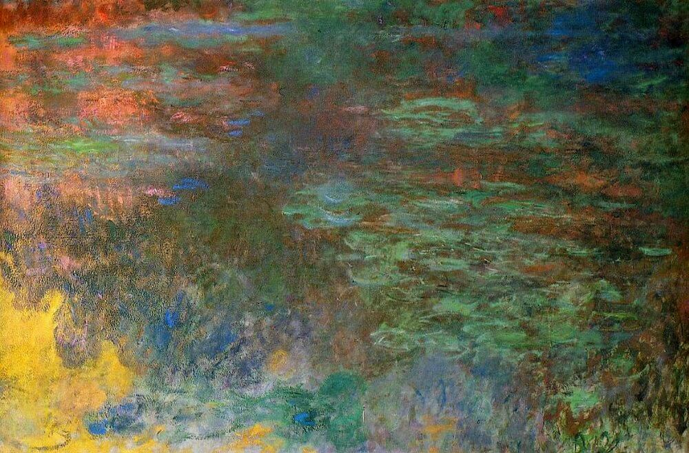 Water Lilies at Sunset,, 1914 1916 by Claude Monet