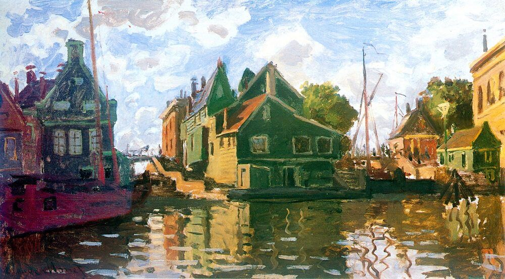 Zaandam, 1871 by Claude Monet
